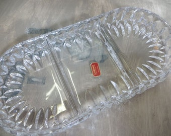 Relish Dish Gorham Crystal Dish Althea Crystal Dish 3 Part Relish Dish Condiment Dish Serving Dish
