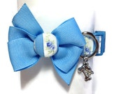 Shabby Chic Blue Dog Collar size Extra Small