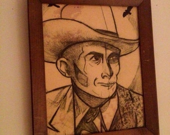 Angel of Death  Hank Williams Zombie Print