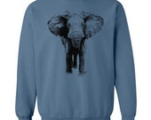 Elephant Sweater Flex Fleece Pullover Classic Sweatshirt - S M L XL XXL (Color Options)