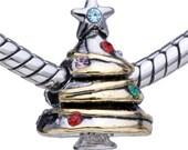 Sale! Christmas Tree Charm Bead -  Christmas Charm Christmas Tree - Fits all European Charm Bracelet Systems