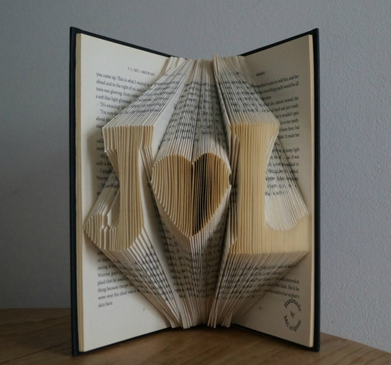 Gifts For Newly Weds: Gifts For NewlywedsInitial Folded Book Art By Meiorigami
