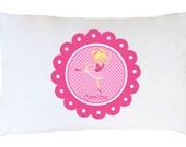 Personalized Cheerleader Pillowcase ~ Personalized Gymnastics Pillowcase~ Personalized Ballerina Pillowcase~ Monogrammed Girls Pillowcase