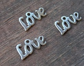 Stainless Steel Love Charms, Stamping Blanks, 12mm, 5 pcs