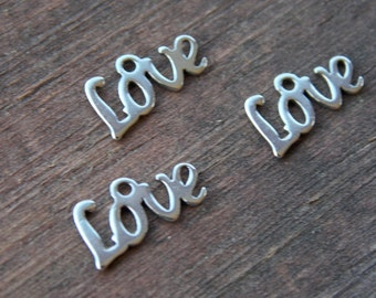 20 Stainless Steel Love Charm 12mm