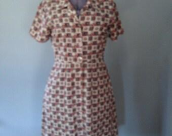 Geometric print shirt dress by EC Star