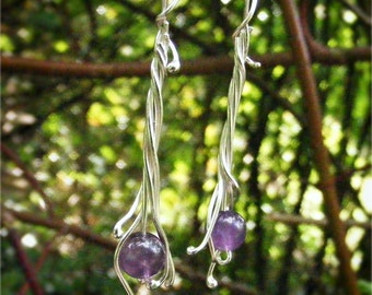 Amethyst Earrings by Arcturus Jewellery