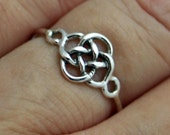 Sterling silver celtic knot ring, knot ring, sterling silver ring, friendship, women, eco friendly, statement rings, stackable rings, gift