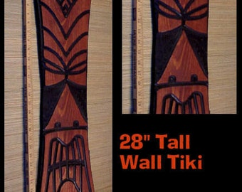 Wall Hanging Carved Tiki Mask