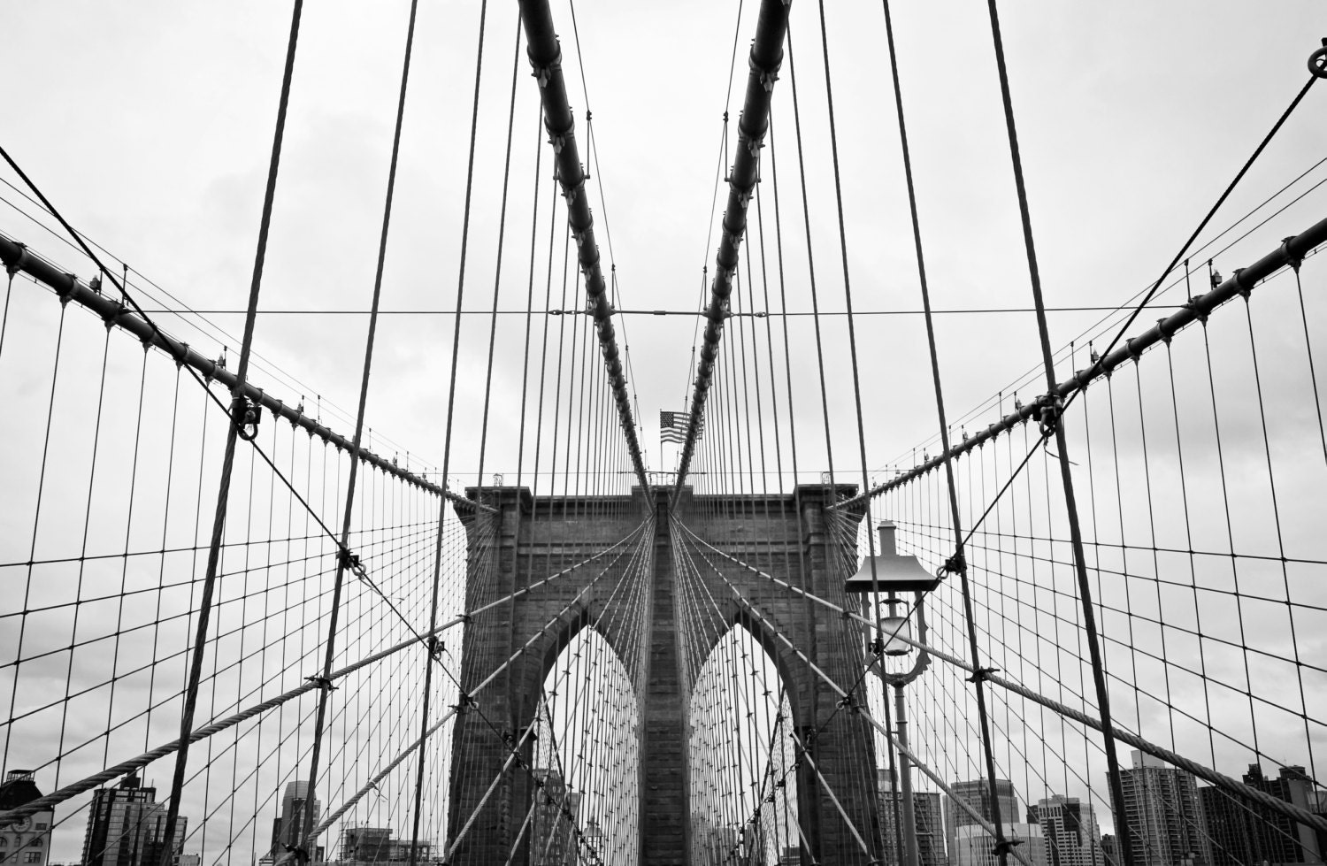 Brooklyn Bridge black and white print Brooklyn Bridge canvas