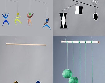 Montessori Mobiles-baby mobiles-the Munari, the Octahedron, the Gobbi and the Dancer-nursery mobiles