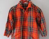 Vintage Plaid Shirt // Aldens // Size 3