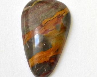 strawberry marble jasper cabochon.  teardrop cabochon 17 x 28 x 5.8