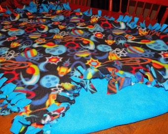 SALE Fleece Blanket - Outer Space Knot Fleece Blanket