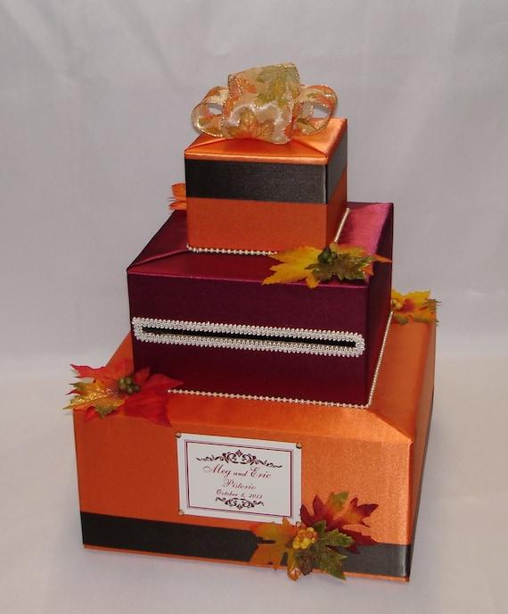 Fall Wedding Card Holder Ideas: FALL Theme Wedding Card Box-any Colors