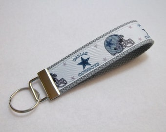 Key Fob/ Wristlet/ Keychain/Dallas Cowboys on Gray/Ready to Ship