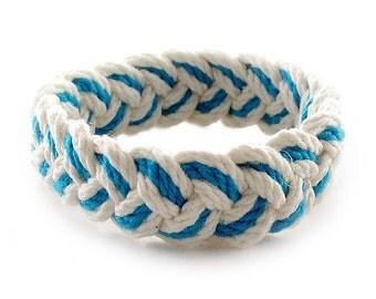 Light Blue and White Sailor Friendship Bracelet