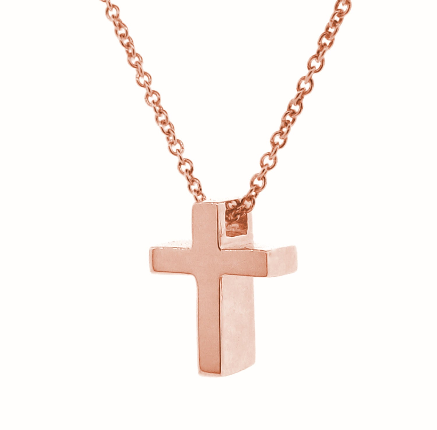 rose gold small cross pendant. Black Bedroom Furniture Sets. Home Design Ideas