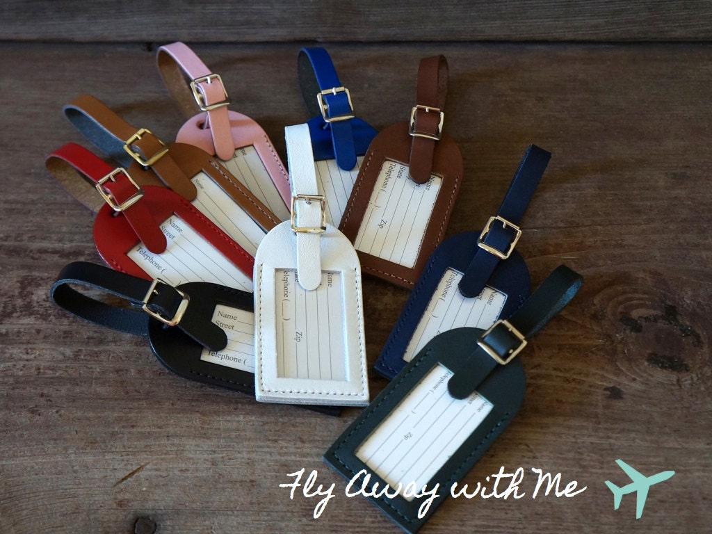 Wedding Favor Luggage Tags Leather : Wedding Favors Fly Away with Me Luggage Tags