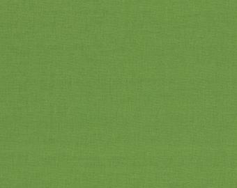 """Green Solid Fabric - Bella Solids """"Fresh Grass"""" by Moda 1/2 Yard"""