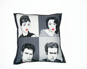 Quilted cushion - movie stars