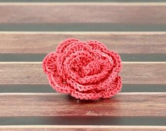 Beautiful Crochet Pink Rose Pattern PDF