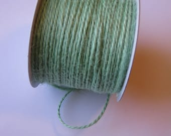 100 Yards of 2mm Mint Green Jute Twine