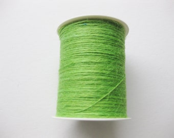 FULL SPOOL - 1mm Parrot Green Jute Twine (400 Yards)