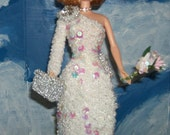 Barbie in Princess Diana's Beaded Gala Gown