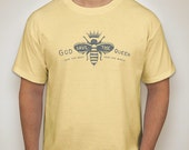 God save the queen - Save the bees Save the world - mens t-shirt -yellow