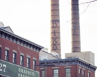 Jersey City Dixon Mills Pencil Factory Art Print Industrial Photography New Jersey Urban Rustic Home Decor