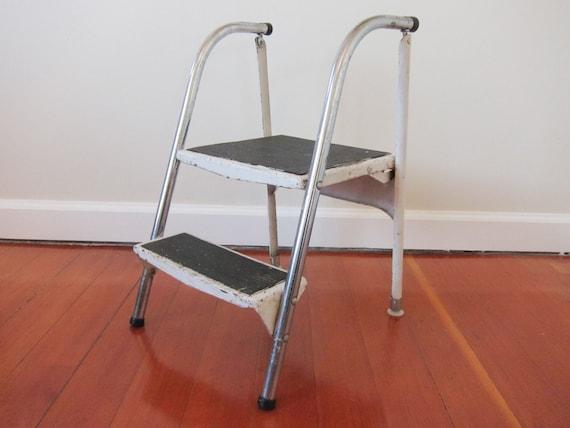 Vintage Metal Folding Step Stool Reserved For Allison