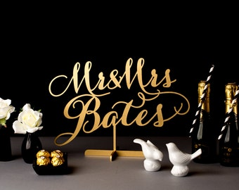 Wedding Table Sign - Custom Last Name for sweetheart table - Soirée Collection