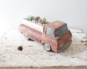 Vintage Metal Toy Truck - Ruler Box Planter Corvair Rampside Volkswagon Succulent Box Vintage Toy Truck
