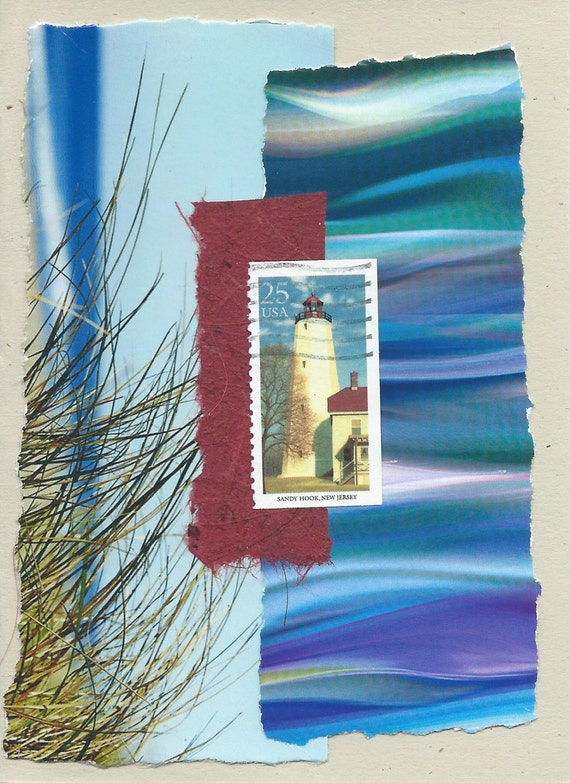 To the Lighthouse: Collage Card