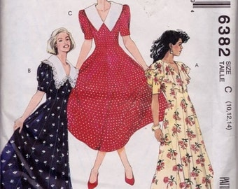 McCall's 6382 Misses' Semi-Fitted Dress Pattern, UNCUT, Size 10-12-14, Party Dress, Wedding, Work Wear, Tea Party Dress
