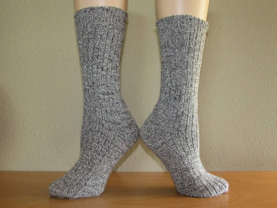 Ready to Ship Winter warm angora wool socks in Twist Grey  Perfect for gift giving-Free Shipping