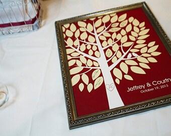 Wedding Guest Book Alternative - The Wishwik Tree - A Peachwik Interactive Art Print - 75 guest sign in