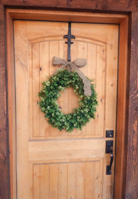 Spring Wreath BOXWOOD Wreath Summer Wreath LARGE Door Wreath Farmhouse  Style Boxwood Door Wreath Outdoor Wreath Housewarming Gift Weddings