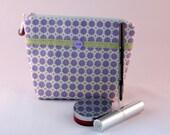 Cosmetic Cotton Bag, Makeup Bag, Zipper Make up Pouch, Small Craft Bag, Travel bag