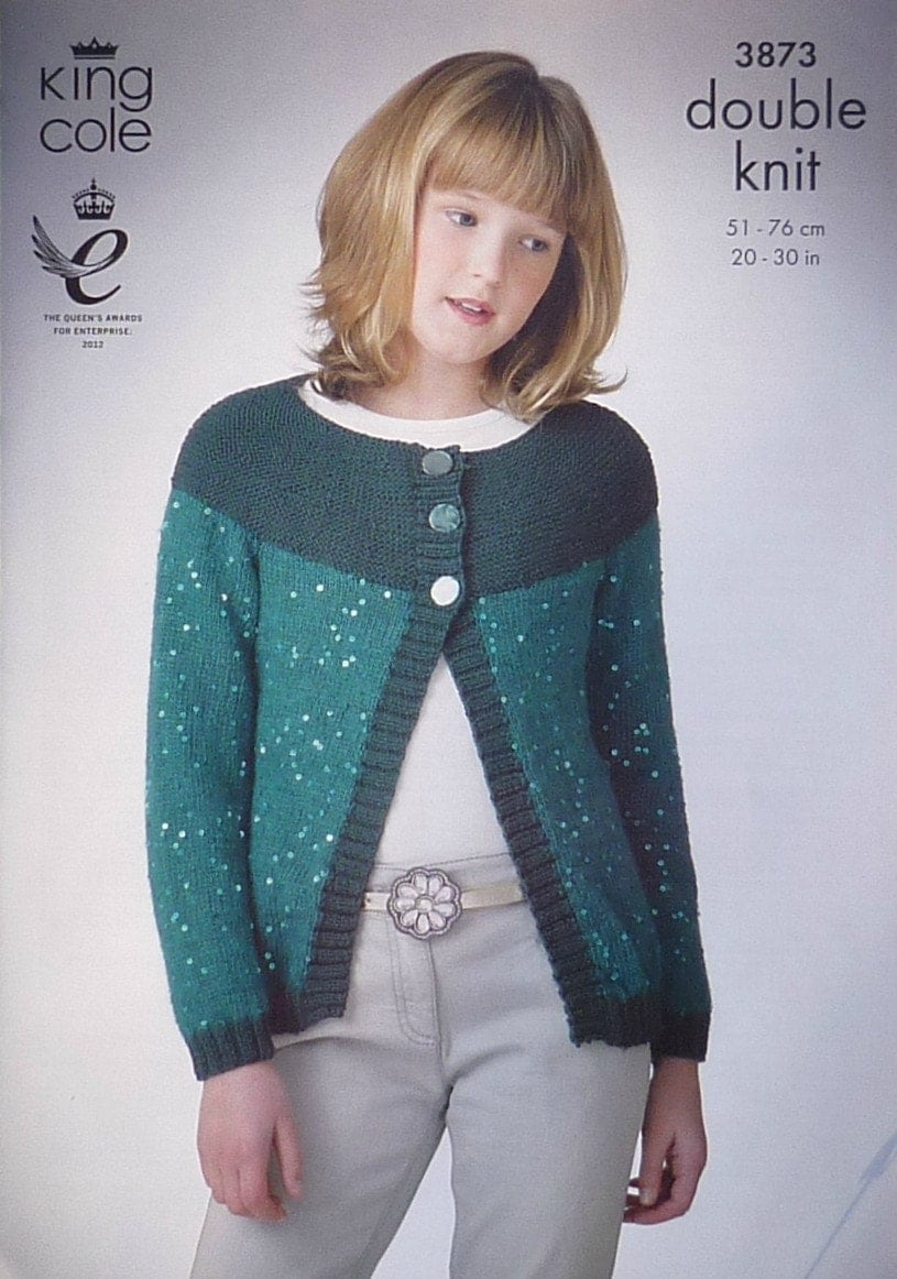 King Cole Campervan Knitting Pattern : Girls Knitting Pattern K3873 Girls Hats Scarf & Collar Knitting Pattern D...