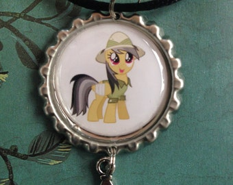My Little Pony Friendship is Magic Daring Do Bottle Cap Necklace