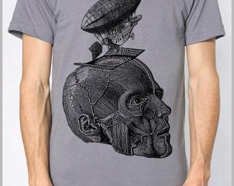 Men's T Shirt Thoughts American Apparel XS, S, M, L, XL 9 Colors