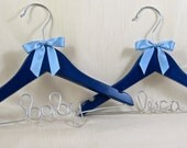 Custom Painted Baby Hanger for Baby, 4 Colors Available, Name Hanger, Personalized Hanger, Shower Gift