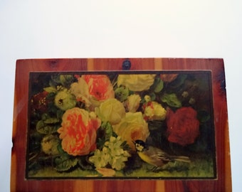 Vintage Wooden Flower Box 1950s