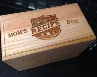 Recipe Box - Laser Engraved
