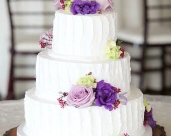 """TREASURY ITEM - 16"""" Tree Slice - Rustic wedding cake stand - Wood Tree slices - Wood cake stand - Woodland decor - Reclaimed wood"""