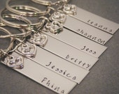Custom Set of Bridesmaid Keychains, Gift for Her, Wedding Party Gifts,Personalized Bridesmaid Gifts, Bridal Party Bridal Shower Gift Ideas