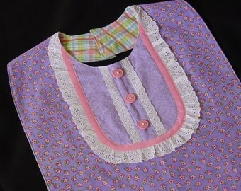 Lavendar and Lace - Jumper Dress Style Bib -  Special Occasions and Everyday Use