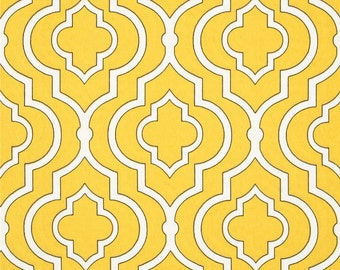 Two 20 x 20 Designer Decorative Pillow Covers for Indoor/Outdoor - Tile Design - Yellow